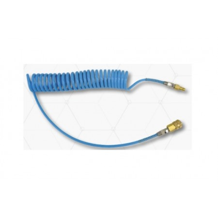 PU spiral hoses 10x6.5mm, 15m with fittings