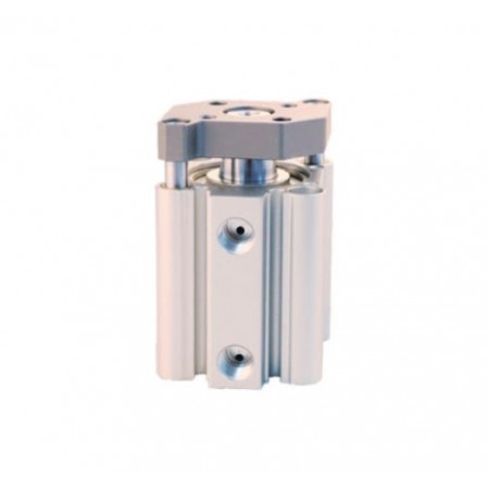 Compact guide cylinder Ø20 x 20 mm, double acting with magnet