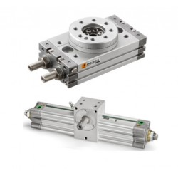 Rotary pneumatic cylinders