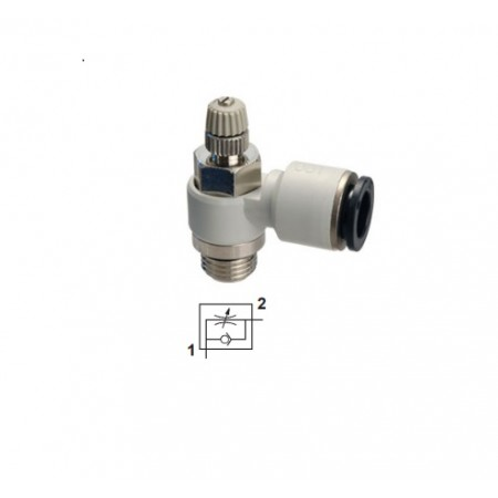 "Flow regulator G1/4"" - Ø8 mm"