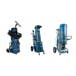 Compressed air driven dust extractors