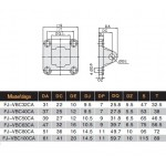 Swivel mounting for cylinder ISO 15552, D32