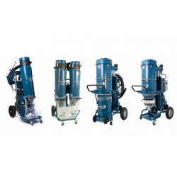 Three-phase dust extractors