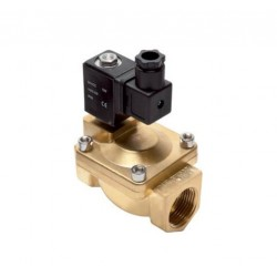 "2/2-way brass solenoid valve G1-1/4"" N.C. 220V (0,5-16bar)"